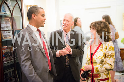 Joel Makonnen, Walter Cutler, Didi Cutler,   50th Annual Meridian Ball Leadership Committee Reception at the Blair House, co-hosted with Ambassador Sean P. Lawler.  September 13, 2018, Photo by Ben Droz.