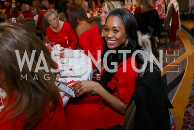 """Real Housewife of Potomac Monique Samuels. Photo by Tony Powell. 2018 """"An Affair of the Heart."""" Marriott Marquis. February 6, 2018"""