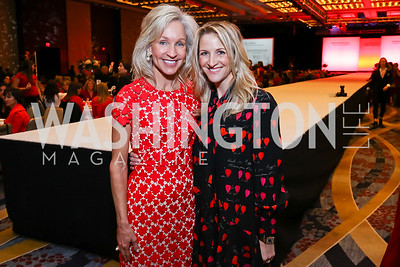 "Luncheon Co-Chair Angie Marriott, Carrie Marriott. Photo by Tony Powell. 2018 ""An Affair of the Heart."" Marriott Marquis. February 6, 2018"