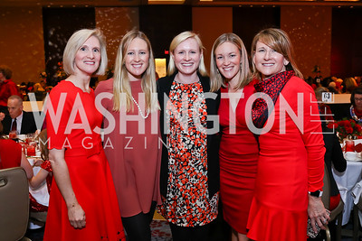 "Luncheon Co-Chair Melanie Colton, Jane Colton Black, Caroline George, Rebecca Colton Alleman, Elise Joyce. Photo by Tony Powell. 2018 ""An Affair of the Heart."" Marriott Marquis. February 6, 2018"