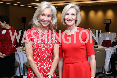 "Luncheon Co-Chairs Angie Marriott and Melanie Colton. Photo by Tony Powell. 2018 ""An Affair of the Heart."" Marriott Marquis. February 6, 2018"