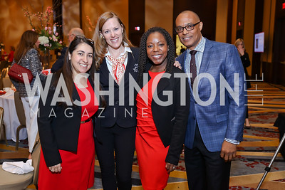 "Rabbi Susan Shankman, Laura Metro, Nakia Harper, Timothy Simmons. Photo by Tony Powell. 2018 ""An Affair of the Heart."" Marriott Marquis. February 6, 2018"