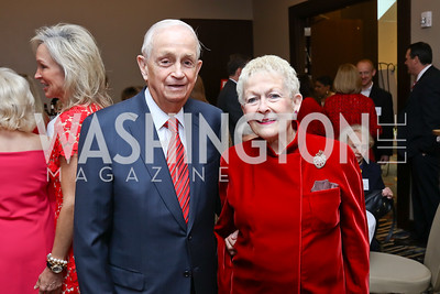 "Bill and Donna Marriott. Photo by Tony Powell. 2018 ""An Affair of the Heart."" Marriott Marquis. February 6, 2018"