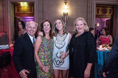 Chris Petersen, Michele Petersen, Abby Petersen, Kathy Kies. Photo By Gevar Bonham. A Vintage Affair. Andrew W. Mellon Auditorium. April 28, 2018.