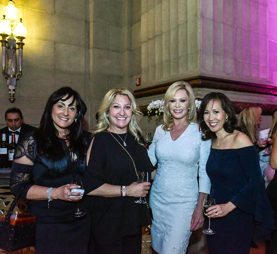 Taryn Zimmerman, Margie Halem, Lynda O'Dea, Jennifer Chow. Photo By Gevar Bonham. A Vintage Affair. Andrew W. Mellon Auditorium. April 28, 2018.