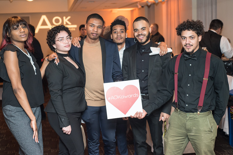 Student participants, First Annual All Our Kids Awards Dinner, AOK, at Sixth & I, February 15, 2018, photo by Ben Droz.