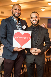 Michael Peterkin, Keyno Clark, First Annual All Our Kids Awards Dinner, AOK, at Sixth & I, February 15, 2018, photo by Ben Droz.