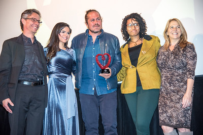 David Simpson, Larisa Martinez, Citizen Cope, Lark Dixon, Kathy Fletcher, First Annual All Our Kids Awards Dinner, AOK, at Sixth & I, February 15, 2018, photo by Ben Droz.