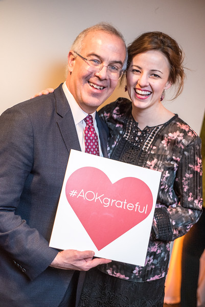 David Brooks, Anne Snyder Brooks, First Annual All Our Kids Awards Dinner, AOK, at Sixth & I, February 15, 2018, photo by Ben Droz.