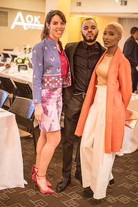"""Emilia Gore, Keyno Clark, Melanie """"Kleo"""" Plumber,  First Annual All Our Kids Awards Dinner, AOK, at Sixth & I, February 15, 2018, photo by Ben Droz."""