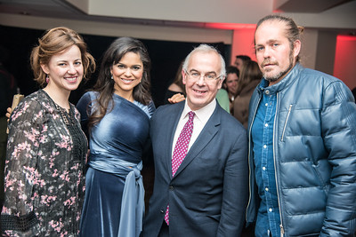 Anne Snyder Brooks, Larisa Martinez, David Brooks, Citizen Cope, First Annual All Our Kids Awards Dinner, AOK, at Sixth & I, February 15, 2018, photo by Ben Droz.