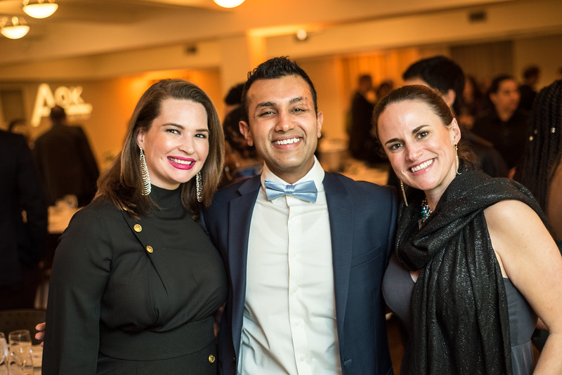 Crystal Kasturi, Avi Kasturi, Catherine Bahumian, First Annual All Our Kids Awards Dinner, AOK, at Sixth & I, February 15, 2018, photo by Ben Droz.