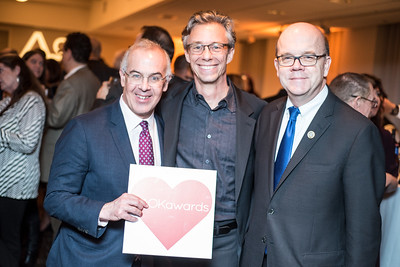 David Brooks, David Simpson, Congressman Jim McGovern, First Annual All Our Kids Awards Dinner, AOK, at Sixth & I, February 15, 2018, photo by Ben Droz.