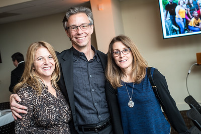 Kathy Fletcher, David Simpson, Kaethe Zellner, First Annual All Our Kids Awards Dinner, AOK, at Sixth & I, February 15, 2018, photo by Ben Droz.