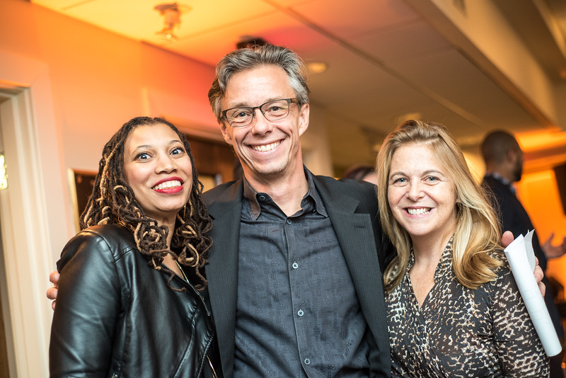 Jessica Caldwell, David Simpson, Kathy Fletcher, First Annual All Our Kids Awards Dinner, AOK, at Sixth & I, February 15, 2018, photo by Ben Droz.