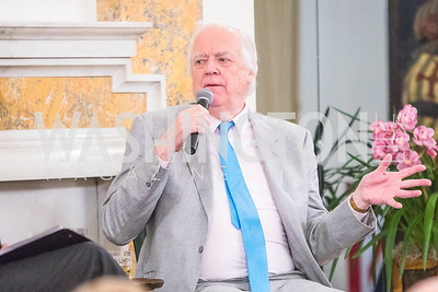 Sir Tim Rice,  Photo by Alfredo Flores. An evening with Sir Tim Rice. The British Embassy. February 13, 2018.