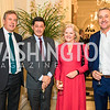 British Ambassador Kim Darroch, John Sopel, Linda Sopel, Mark Austin. Photo by Alfredo Flores. An evening with Sir Tim Rice. The British Embassy. February 13, 2018.