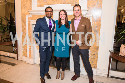 James Harris, Vanessa McDonald, Phil Piga. Photo by Alfredo Flores. An evening with Sir Tim Rice. The British Embassy. February 13, 2018.
