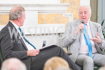 British Ambassador Kim Darroch, Sir Tim Rice, Photo by Alfredo Flores. An evening with Sir Tim Rice. The British Embassy. February 13, 2018.