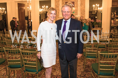 Eileen Shields-West, Justin Dean. Photo by Alfredo Flores. An evening with Sir Tim Rice. The British Embassy. February 13, 2018.