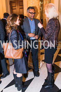 Erin Thomas, Abraham Thomas, Elizabeth Daoust, Photo by Alfredo Flores. An evening with Sir Tim Rice. The British Embassy. February 13, 2018.