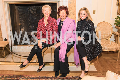 Shannon Campagna, Janet Cam, Lee Foster, Photo by Alfredo Flores. An evening with Sir Tim Rice. The British Embassy. February 13, 2018.