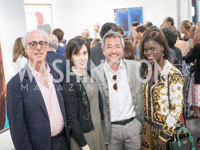 Steve Sumberg, Maria Kanakis Yang, Akio Tagawa, Jane Cole, Private tour with the Hirshhorn, Art Basel, Miami Beach, December 2018. Photo by Ben Droz.
