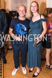 Steve Hilton, Juleanna Glover, Photo by Alfredo Flores. Book Party for Steve Hilton. Juleanna Glover's residence. October 10, 2018