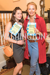 Katherine Finnerty, Jennifer Isham , Photo by Alfredo Flores. Book Party for Steve Hilton. Juleanna Glover's residence. October 10, 2018