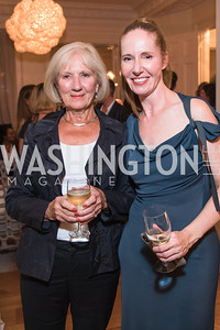 Mary Lou Glover , Juleanna Glover , Photo by Alfredo Flores. Book Party for Steve Hilton. Juleanna Glover's residence. October 10, 2018