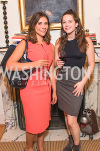 Tara Palmeri, Katherine Finnerty, Photo by Alfredo Flores. Book Party for Steve Hilton. Juleanna Glover's residence. October 10, 2018