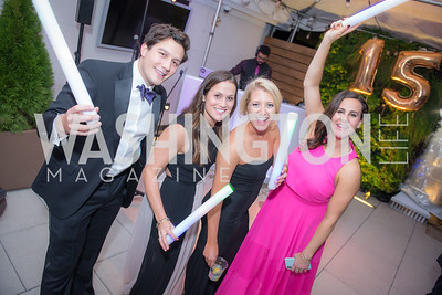 Robbie Bracci, Sarah Schnurr, Morgan Dorset, Emily D'Alessandris, Capitol Seniors Housing, 15th Anniversary Party.  November 8, 2018. Photo by Ben Droz.