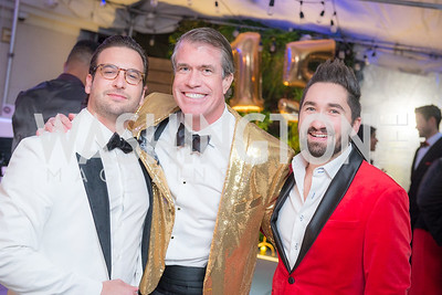 Taylor Rijos, Scott Stewart, Jason Zuccari,  Capitol Seniors Housing, 15th Anniversary Party.  November 8, 2018. Photo by Ben Droz.