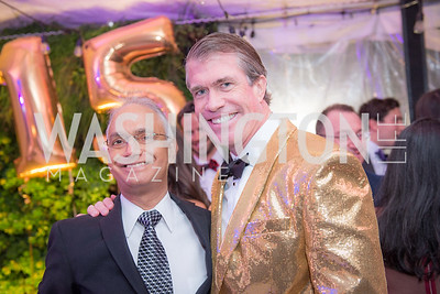 Krishnan Kalyanasundaram, Scott Stewart, Capitol Seniors Housing, 15th Anniversary Party.  November 8, 2018. Photo by Ben Droz.