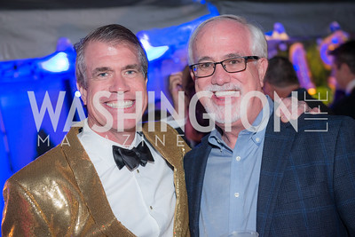 Scott Stewart, Bill Stewart, Capitol Seniors Housing, 15th Anniversary Party.  November 8, 2018. Photo by Ben Droz.