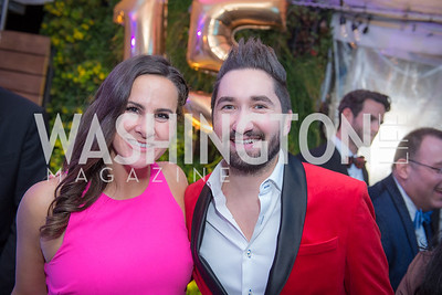 Emily D'Alessandris, Jason Zuccari, Capitol Seniors Housing, 15th Anniversary Party.  November 8, 2018. Photo by Ben Droz.