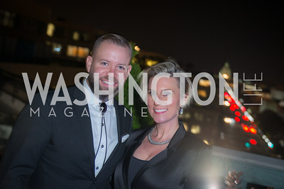 Lucas McCurdy, Sevy Petras, Capitol Seniors Housing, 15th Anniversary Party.  November 8, 2018. Photo by Ben Droz.