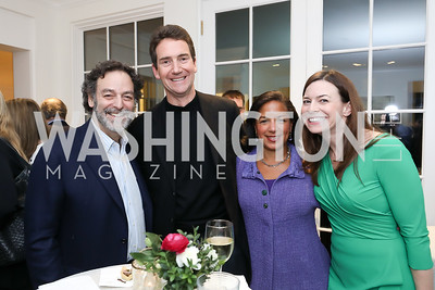 Joel Benenson, Ian Cameron, Susan Rice, Meridith Webster. Photo by Tony Powell. Celebrating Kara Swisher. Bankoff Residence. November 19, 2018