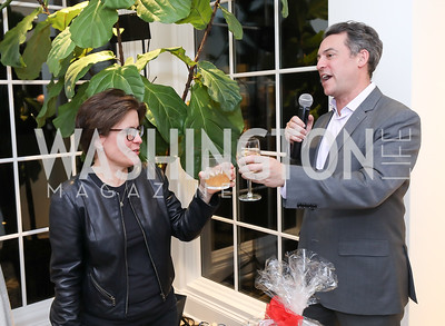 Kara Swisher, Jim Bankoff. Photo by Tony Powell. Celebrating Kara Swisher. Bankoff Residence. November 19, 2018