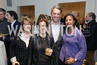 Margaret Carlson, Kara Swisher, Jim Bankoff, Susan Rice. Photo by Tony Powell. Celebrating Kara Swisher. Bankoff Residence. November 19, 2018