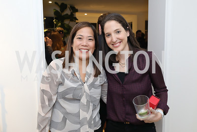 Jodi Page, Uber's Rachel Holt. Photo by Tony Powell. Celebrating Kara Swisher. Bankoff Residence. November 19, 2018
