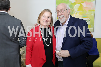 Amanda Bennett, Walt Mossberg. Photo by Tony Powell. Celebrating Kara Swisher. Bankoff Residence. November 19, 2018