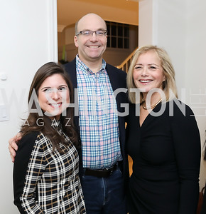 Sara Fischer, Mike Allen, Hilary Rosen. Photo by Tony Powell. Celebrating Kara Swisher. Bankoff Residence. November 19, 2018