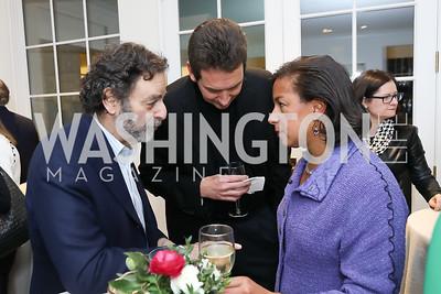 Joel Benenson, Ian Cameron, Susan Rice. Photo by Tony Powell. Celebrating Kara Swisher. Bankoff Residence. November 19, 2018