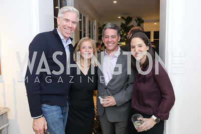David Gregory, Hilary Rosen, Jim Bankoff, Rachel Holt. Photo by Tony Powell. Celebrating Kara Swisher. Bankoff Residence. November 19, 2018