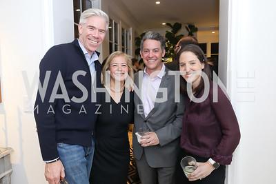 David Gregory, Hilary Rosen, Jim Bankoff, Rachel Holt. Photo by Tony Powell. Celebrating Kara Swisher. Bankoff Residence. November 19, 2018