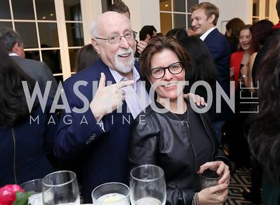 Walt Mossberg, Kara Swisher. Photo by Tony Powell. Celebrating Kara Swisher. Bankoff Residence. November 19, 2018