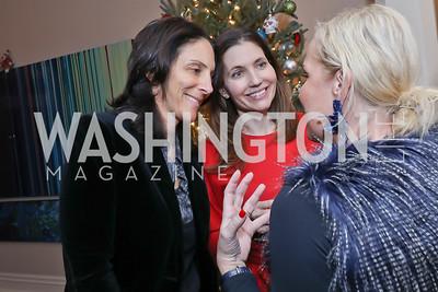 Evan Ryan, Nicole Elkon, Mary Alberg. Photo by Tony Powell. Celebration of Washington Power Women. Quinn Residence. December 17, 2018