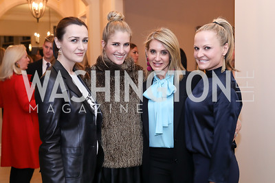 Amra Fazlic, Ashley Bronczek, Tara Patten, Jamie Dorros. Photo by Tony Powell. Celebration of Washington Power Women. Quinn Residence. December 17, 2018