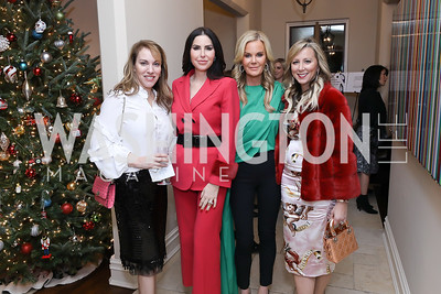 Estee Portnoy, Amy Baier, Susanna Quinn, Jean-Marie Fernandez. Photo by Tony Powell. Celebration of Washington Power Women. Quinn Residence. December 17, 2018